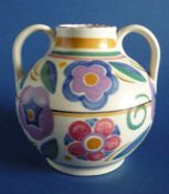 Rare Poole Pottery GZ Pattern Vase by Truda Carter c1935